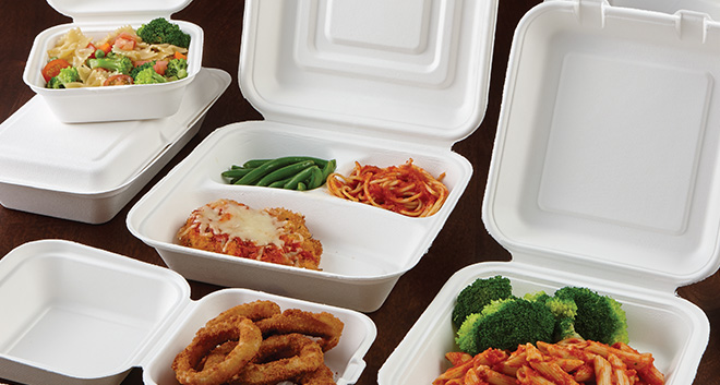 Sabert Compostable - white environment friendly packaging